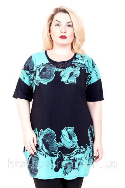 Туника большого размера Маки (2 цвета), летняя туника большого размера, одежда больших размеров