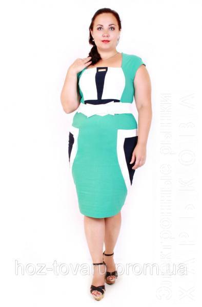 Платье большого размера Николь (3 цвета) - Платья больших размеров на рынке Барабашова