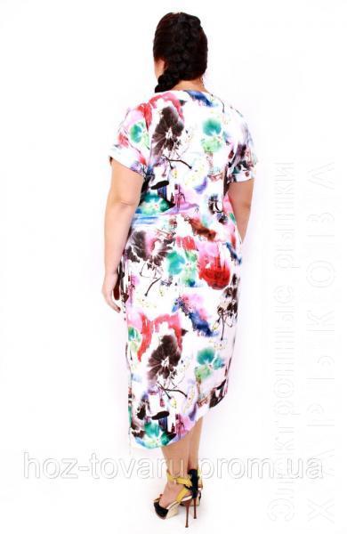 3e3a68283bf Платье большого размера танго рисунок - Платья больших размеров на рынке  Барабашова