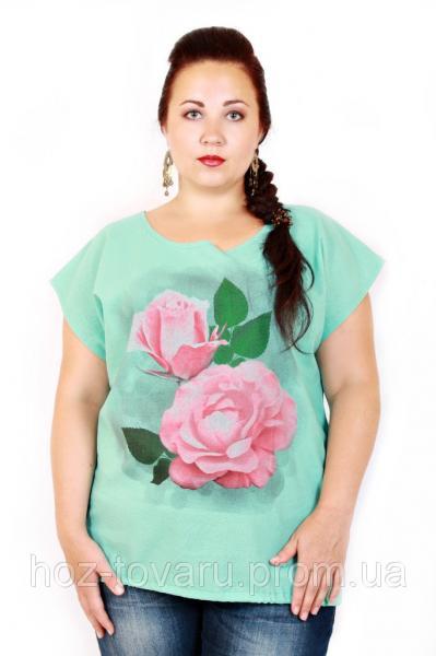 Туника большого размера Роза (2 цвета)