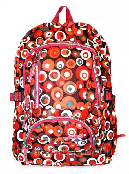 Рюкзак подростковый 218 горох красный, рюкзак для школы, рюкзаки недорого, дропшиппинг украина