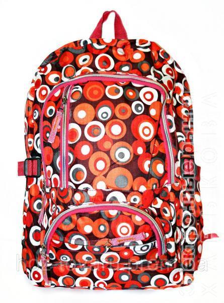 7de561b63c91 Рюкзак подростковый 218 горох красный, рюкзак для школы, рюкзаки недорого,  дропшиппинг украина -