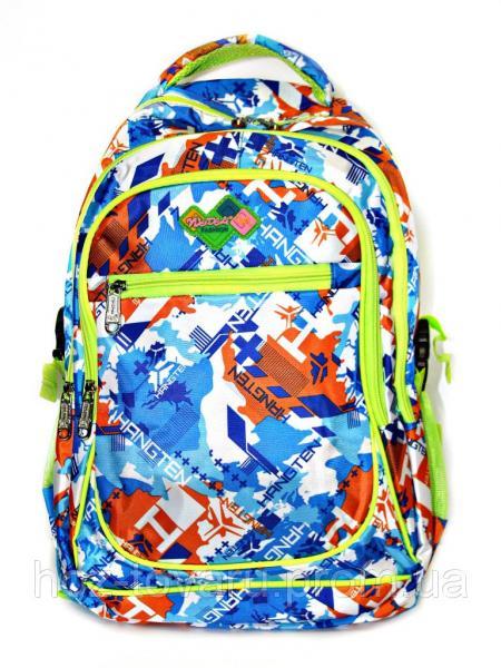 Рюкзак подростковый (школьный) 11 JM1971 синий/оранж, рюкзак для школы, рюкзак недорого, дропшиппинг украина