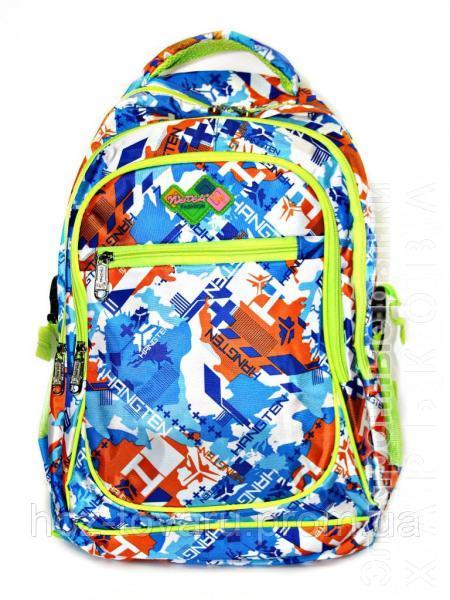 Рюкзак подростковый (школьный) 11 JM1971 синий/оранж, рюкзак для школы, рюкзак недорого, дропшиппинг украина - Школьные рюкзаки и портфели на рынке Барабашова