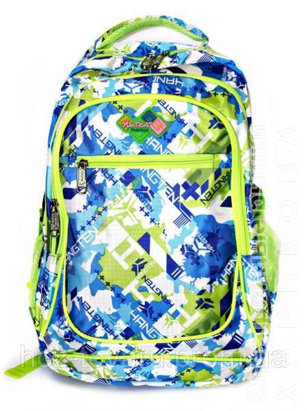 33c55c1c88b9 ... рюкзаки и портфели на рынке Барабашова. Рюкзак подростковый (школьный)  11 JM1971 синий/салат, рюкзак для школы, рюкзак