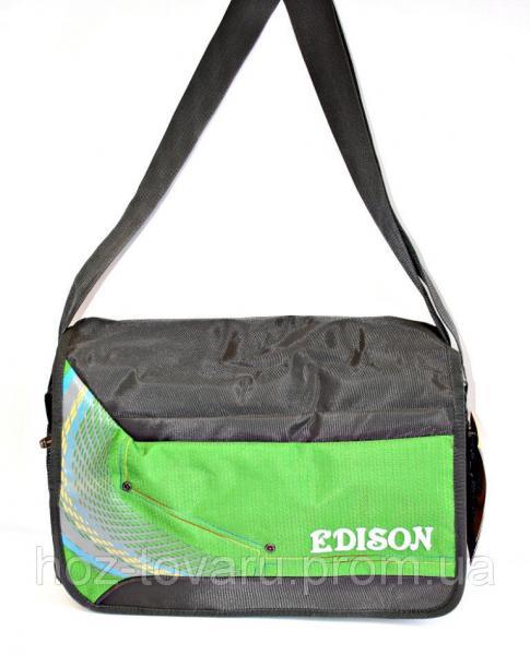 Сумка Эдисон зеленый, сумка универсальная, сумка для учебы, для работы, сумки недорого, дропшиппинг по украине