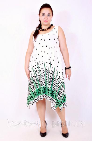 Сарафан большого размера Летний молоко, платья большого размера, женская одежда больших размеров, дропшиппинг