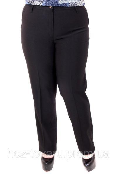 Брюки женские большого размера классика 60112, классические женские брюки, черные женские брюки, дропшиппинг