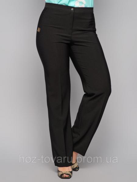 Брюки женские большого размера классика 6075, классические женские брюки, черные брюки женские, дропшиппинг