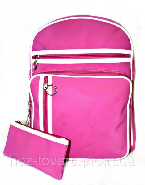 Рюкзак городской адидас 36716 розовый, кожаный рюкзак, рюкзак кожзам, рюкзак женский, оптом, дропшиппинг