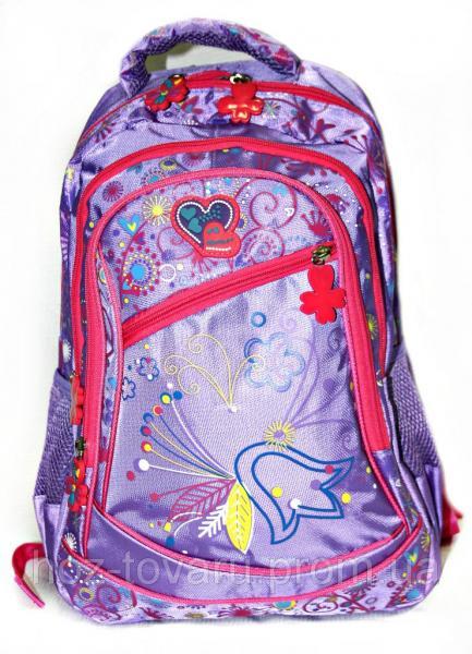 Рюкзак подростковый (школьный) 17327 колокольчик сирень, рюкзак для школы, рюкзаки оптом,  дропшиппинг украина