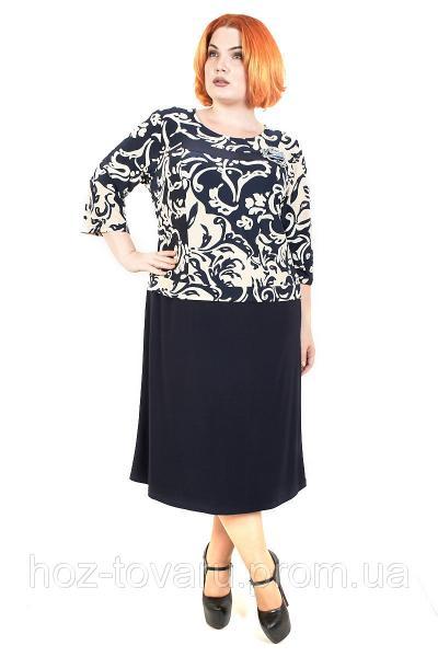 Платье большого размера Роза Батал №3, дропшиппинг, платье для полных женщин, батал
