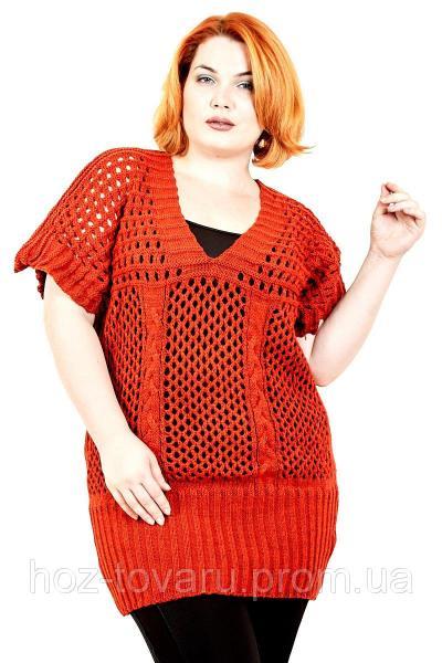 Жилет вязанный большого размера Сетка (5 цветов), вязанная жилетка большого размера, жилеты для полных женщин