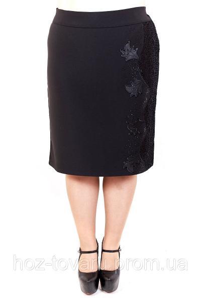 Юбка большого размера Кленовый лист, юбка для полных женщин, юбка батал, дропшиппинг