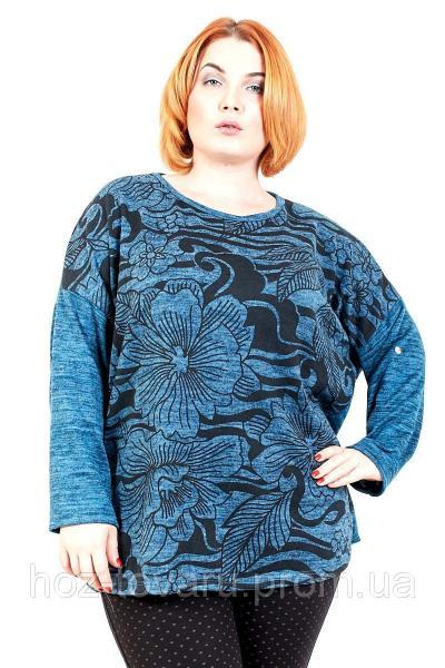 Туника большого размера Ромашка (4 цв), туника для полных женщин, одежда больших размеров, дропшиппинг