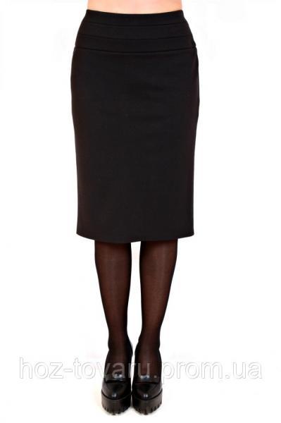 Юбка карандаш большого размера 017, юбка прямая, черная юбка, для офиса, для школы, дропшиппинг