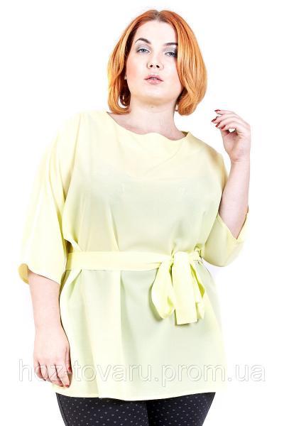Блуза большого размера Летучая мышь шифон (2цв), шифоновая блузка большого размера, для полных, дропшиппинг