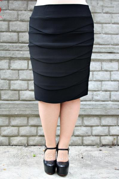 Юбка большого размера Волна 058, юбки для полных, юбка батал, дропшиппинг  украина