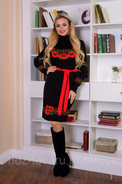Платье вязанное Венок