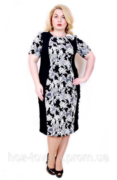 Платье Диана цветок серый