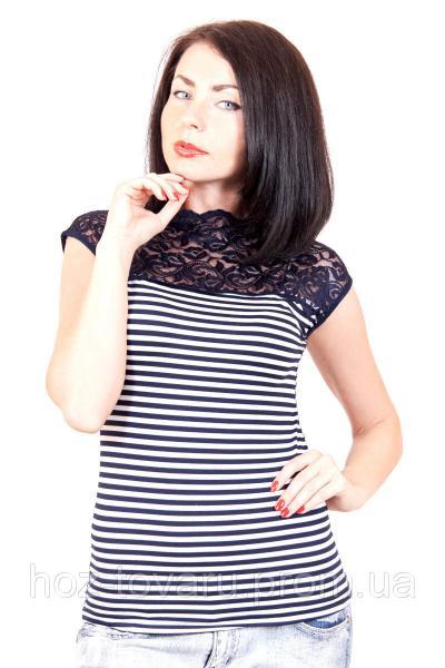 Футболка женская большого размера 415, футболки недорого, женская футболка в полоску, дропшиппинг  украина