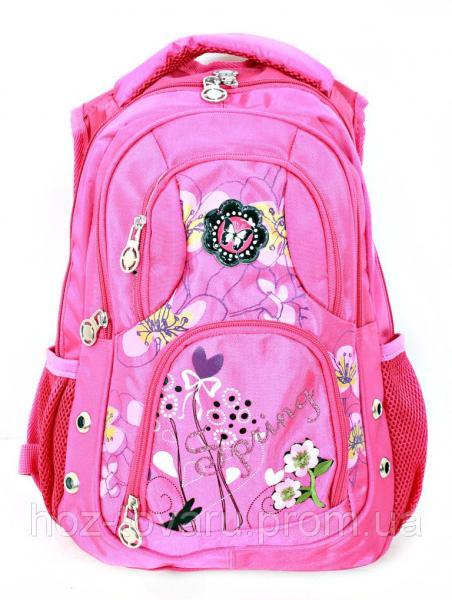 Рюкзак школьный L435 (2 цвета), школьный рюкзак для девочки, розовый рюкзак, рюкзаки оптом,  дропшиппинг