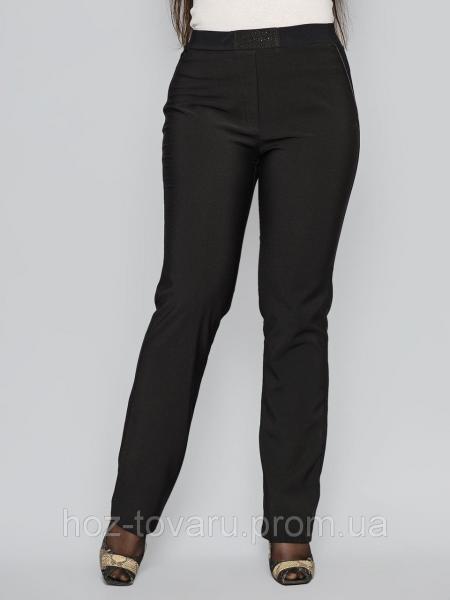 Брюки 6043 без флиса, классические женские брюки, черные брюки женские,  дропшиппинг украина