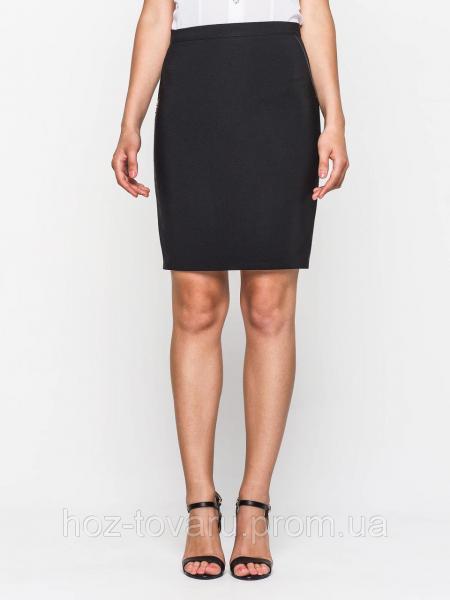 Юбка карандаш 60129, юбка прямая, юбка до колена, черная юбка, для офиса, для школы, дропшиппинг украина