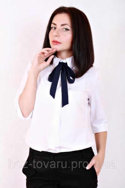 Блуза Бант, шифоновая блузка, блузки оптом и в розницу, блузка для офиса, для школы, дропшиппинг по украине