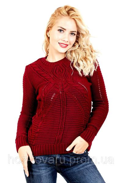 Свитер вязанный женский 535 (5 цветов), женский свитер недорого, свитер от производителя, дропшиппинг