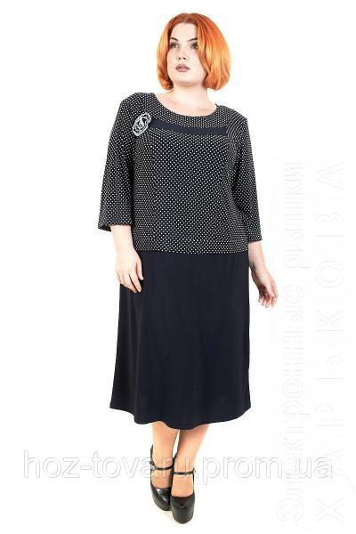 0721479afa4 ... Платья больших размеров на рынке Барабашова. Платье большого размера  Роза Батал горох №4