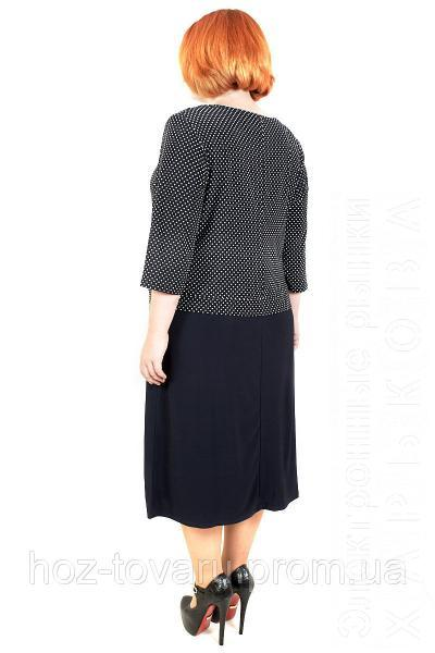 b8c6489f650 Платье большого размера Роза Батал горох №4