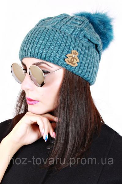 Шапка вязанная женская Клеопатра 0034 (5 цв), женские шапки оптом, шапки от производителя, дропшиппинг
