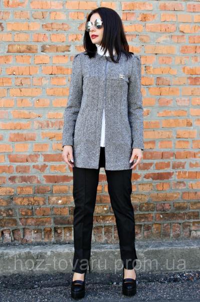 Женское демисезонное пальто Шанель твид без карман, женское пальто демисезонное, пальто классика, дропшиппинг