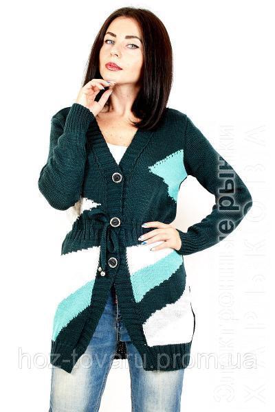 кофта женская вязаная радуга 3 цвета женская вязанная кофта