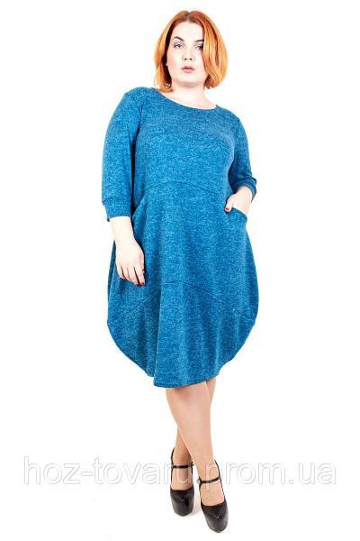 Платье большого размера Джерси Мини (5 цветов), платье для полных, свободное платье большого размера