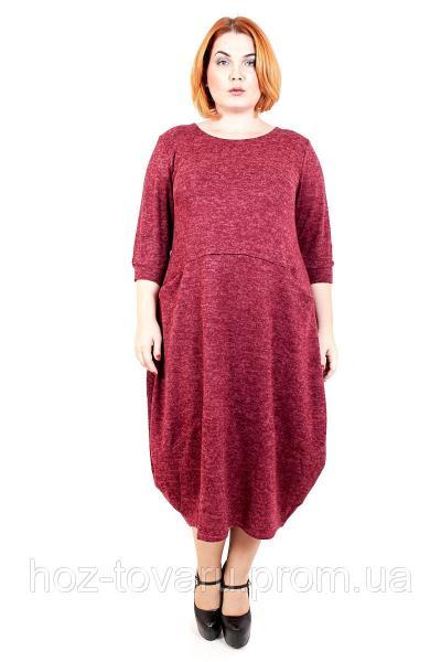 Платье большого размера Джерси Макси (3 цвета), платье для полных, свободное платье большого размера