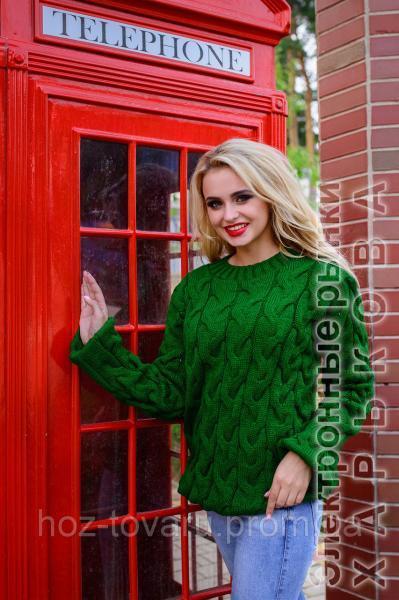 свитер женский вязанный коса лало 7цв теплый женский свитер