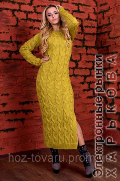 Платье вязанное Лало - Платья с рукавами 04dc2d9a8c33c