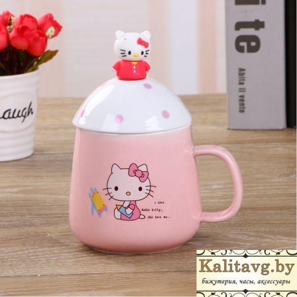 Чашка для девочек Китти с ложкой