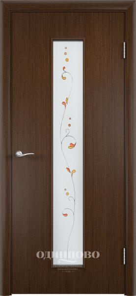 Межкомнатная дверь шпон ПО С-21 с художественным стеклом