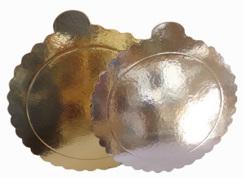 """Подложка """"Узор"""" золото-серебро 26 см толщ.3 мм"""
