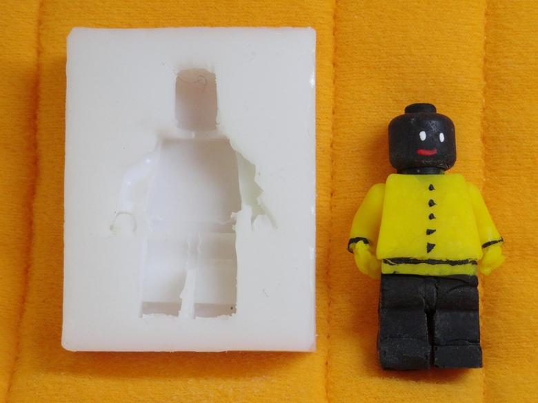 """""""Лего-человек"""" силиконовый молд 4,7-3,7 см"""