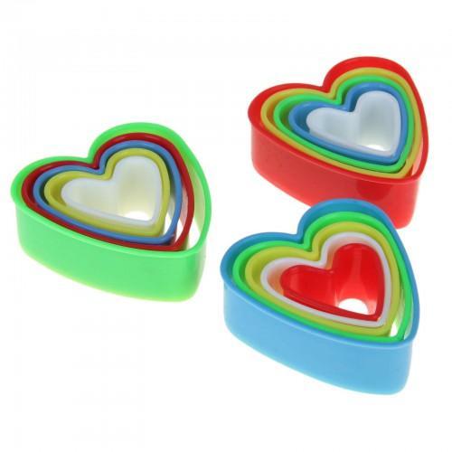 """Вырубка """"Сердечки"""" набор из 5 форм"""