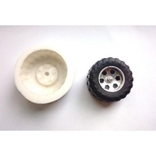 """""""Колесо для машины малое""""силиконовый молд 4,8 см"""