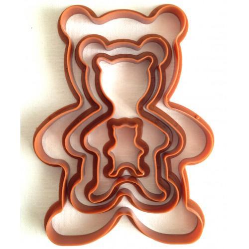 """Вырубка для пряников """"Медвежата"""" набор из 4 форм"""