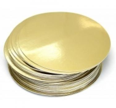 Подложка двухслойная 360 мм золото-серебро