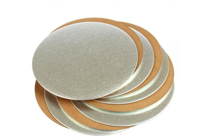 Подложка трехслойная 180 мм золото-серебро 10 штук