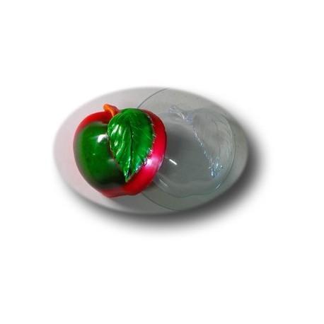 """Молд пластиковый """"Яблоко с листочком"""" для мыла"""