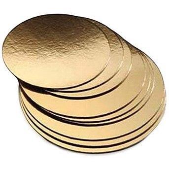 Подложка двухслойная 180 мм золото-серебро 10 штук